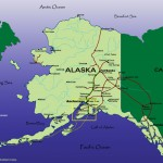 Alaska Map with Kenai Peninsula Highlighted