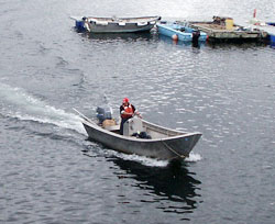 Commercial fishing is the primary source of income